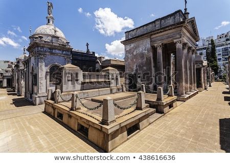 Temető Buenos Aires történelmi kereszt városi turista Stock fotó © fotoquique