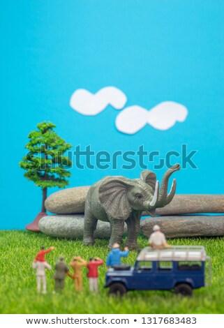 A group of miniature photographers Stock photo © Kirill_M
