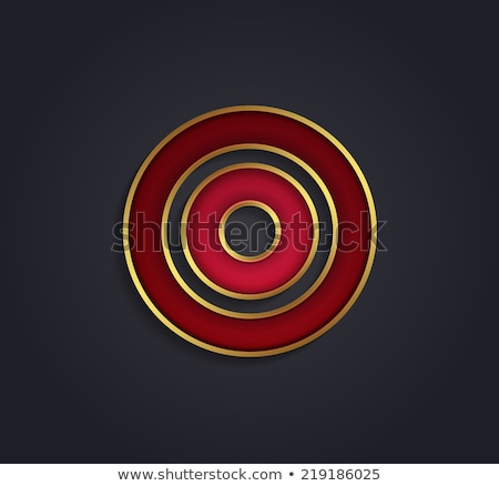 Beautiful vector graphic ruby alphabet with gold rim / letter U  stock photo © feabornset