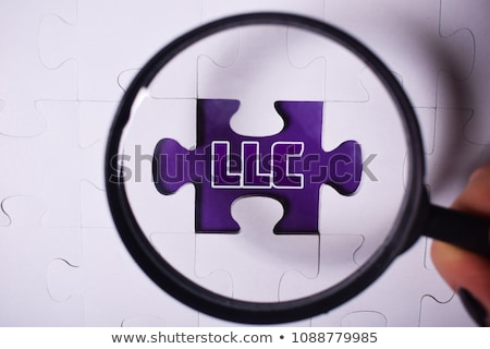 LLC - Text on Red Puzzles. Stock photo © tashatuvango
