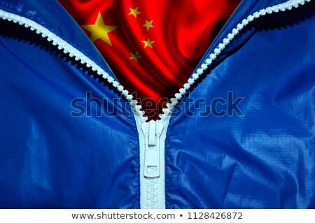 Chiny banderą zamek niebieski projektu przestrzeni Zdjęcia stock © fuzzbones0