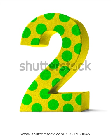 Colorful Paper Mache Number on a white background  - Number 2 Stock photo © Zerbor
