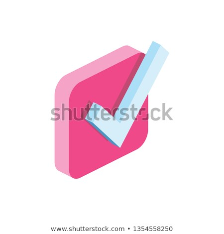 Tick Mark Vector Pink Web Icon Stock photo © rizwanali3d