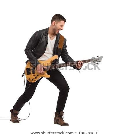 Rock rotolare uomo chitarra Foto d'archivio © feedough