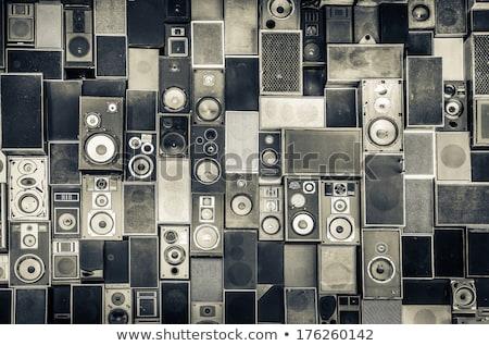 ヴィンテージ · サウンド · スピーカー · 孤立した · 白 - ストックフォト © Avlntn