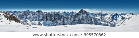 Panoramiczny widoku alpejski lodowiec parku wody Zdjęcia stock © wildnerdpix