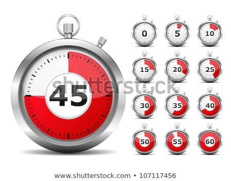 Stop Watch Red Vector Icon Design Stock photo © rizwanali3d