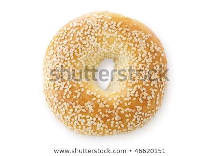 Sesame Seed Bagel, Viewed From Above Stock photo © 3mc