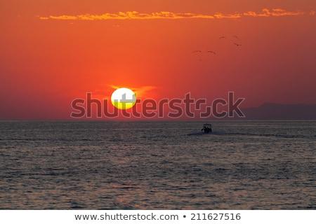 рассвета судно небе закат пейзаж фон Сток-фото © Escander81