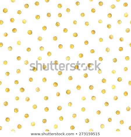 seamless polka dot yellow pattern with circles stock photo © punsayaporn