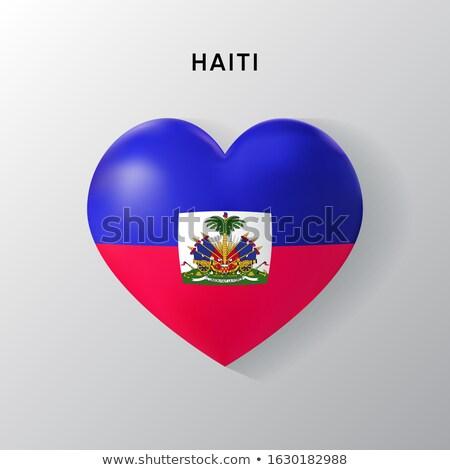 ハイチ 中心 フラグ アイコン 愛 シンボル ストックフォト © netkov1