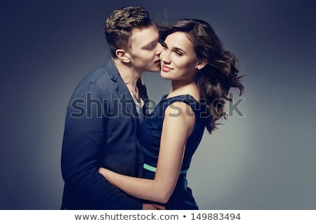 glamour · estilo · foto · bonito · casal · mulher - foto stock © konradbak