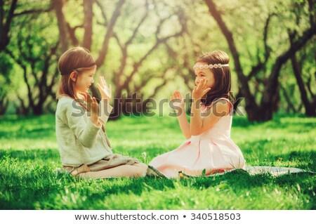 夢のような 少女 森林 立って 晴れた 春 ストックフォト © Anna_Om