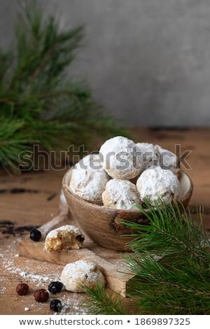 christmas · heerlijk · marsepein · cookies · vruchten · beker - stockfoto © digifoodstock
