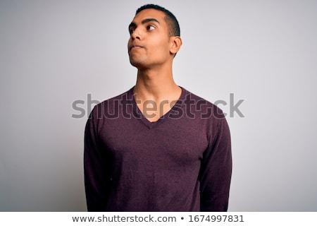 Africano americano retrato jovem descuidado africano homem Foto stock © blanaru