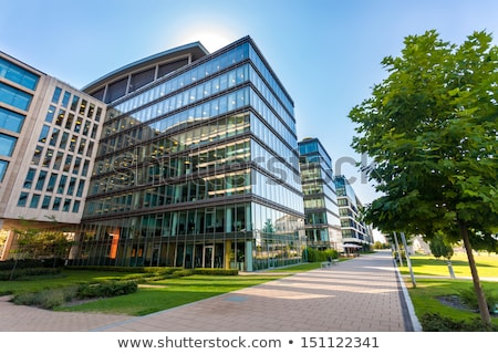 Business office building exterior with glass windows Stock photo © stevanovicigor