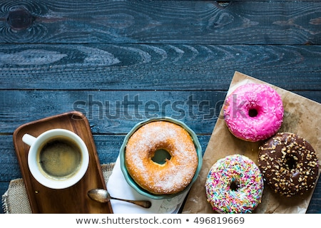 colorful donuts and coffee breakfast composition with different color styles stock photo © davidarts