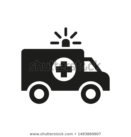 Ambulância ilustração branco médico luzes gráfico Foto stock © bluering
