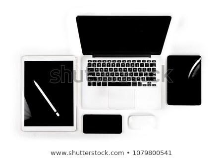 Stock fotó: Felső · kilátás · modern · drótnélküli · elektronikus · eszközök