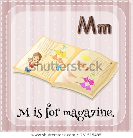 Mektup m dergi örnek çocuklar kitap çocuk Stok fotoğraf © bluering