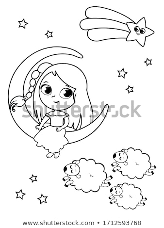 counting for kids coloring page Stock photo © izakowski