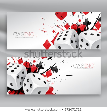 set of casino banners with dices and abstract ink splash Stock photo © SArts
