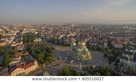 Sofia centrum Bułgaria miasta centrum drogowego Zdjęcia stock © joyr