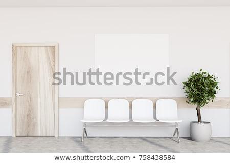 moderna · sala · de · espera · interior · vacío · madera · dura - foto stock © stevanovicigor