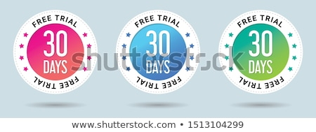 free trial stamp set Stock photo © SArts