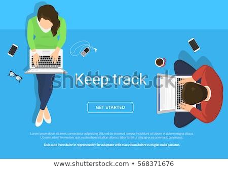 Uomo d'affari utilizzando il computer portatile giovani sorridere Foto d'archivio © RAStudio