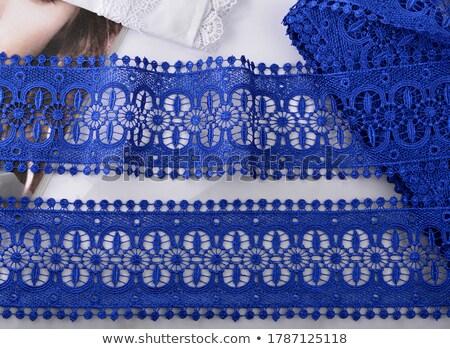 Blue silk bra Stock photo © sapegina