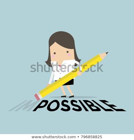 onmogelijk · mogelijk · verlicht · billboard · tekst · teken - stockfoto © stevanovicigor