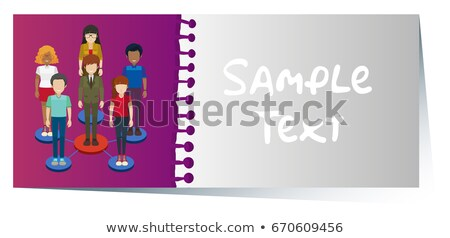 Businesscard with infographic design of people in background Stock photo © bluering