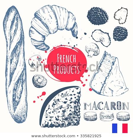 Cocina francés croissant alimentos huevo fondo Foto stock © M-studio