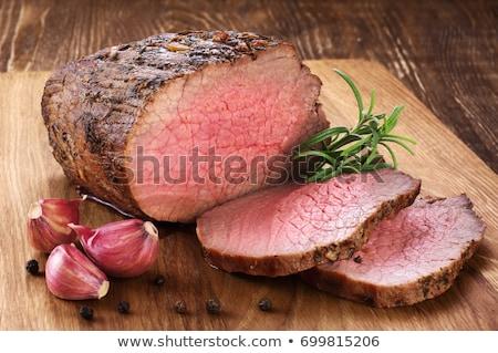soczysty · stek · rzadki · wołowiny · przyprawy · kawałek - zdjęcia stock © zhekos