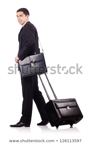 Young man during business travel isolated on white Stock photo © Elnur