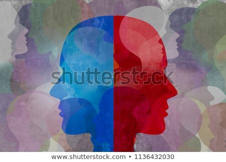 diagnosis   schizophrenia medical concept 3d illustration stock photo © tashatuvango