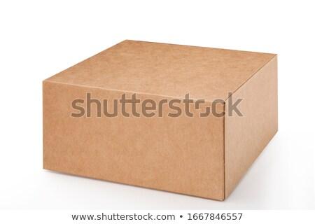 Single Closed Cardboard Box Stock photo © make