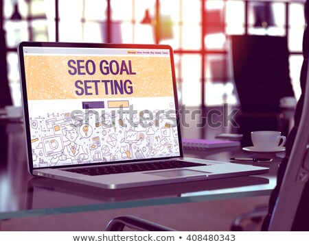 Laptop Screen with SEO Goal Setting Concept. Stock photo © tashatuvango