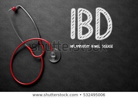 chalkboard with inflammation 3d illustration stock photo © tashatuvango