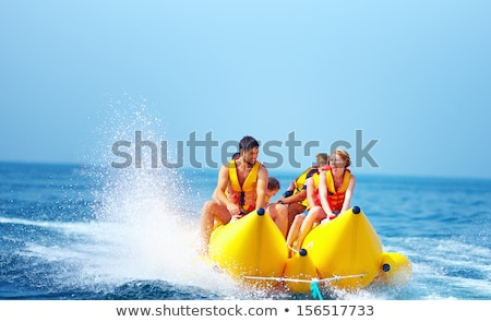 couple · jouer · plage · jeu · nature · bikini - photo stock © IS2