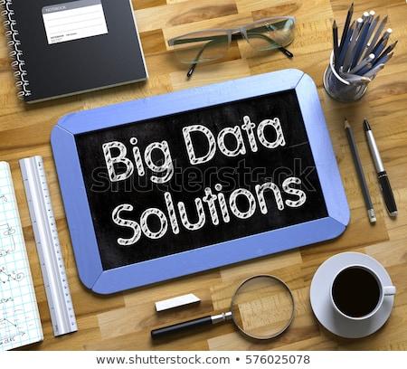 Büyük veri analitik küçük kara tahta 3D Stok fotoğraf © tashatuvango
