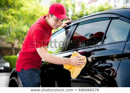 Autó szolgáltatás személyzet mosás autó férfi Stock fotó © wavebreak_media