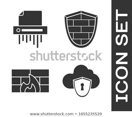 Confidential Data on White Brick Wall. Stock photo © tashatuvango