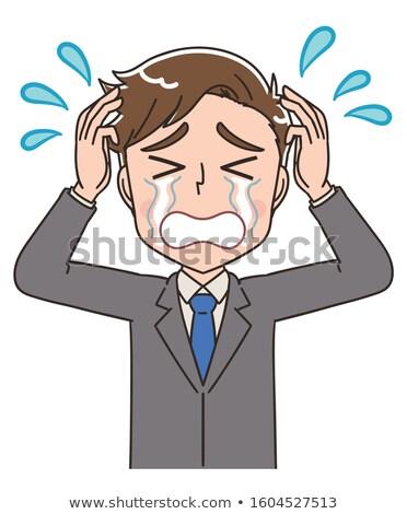 бизнесмен · плачу · горе · менеджера · Постоянный · вертикальный - Сток-фото © is2