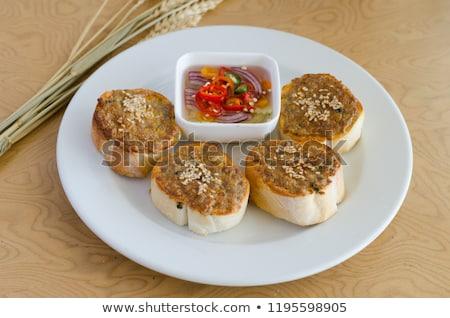meat spread and bread stock photo © m-studio