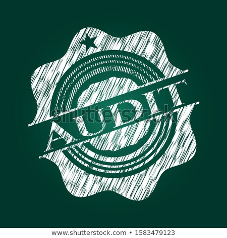 Verde lavagna revisione doodle icone Foto d'archivio © tashatuvango