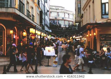 Turkish street cafe in Istanbul. Stock photo © artjazz