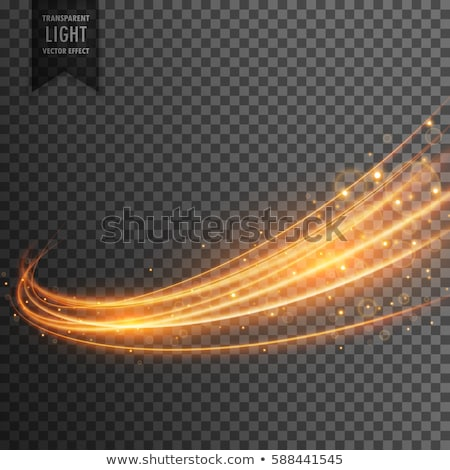 Transparant swirl gouden licht effect abstract Stockfoto © SArts