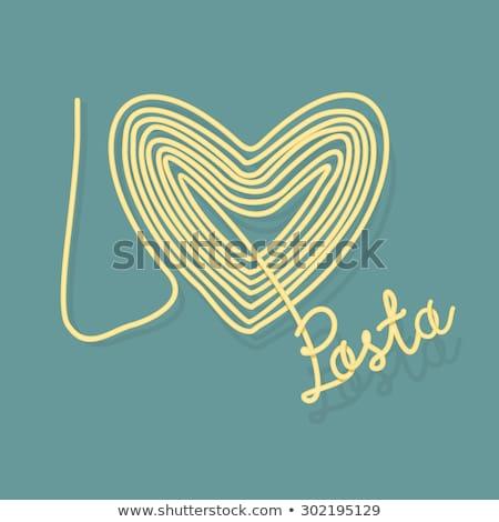 愛 パスタ スパゲティ シンボル 中心 ベクトル ストックフォト © popaukropa